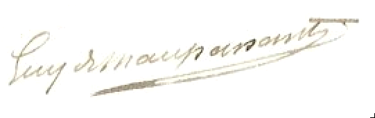 Guy de Maupassant's signature