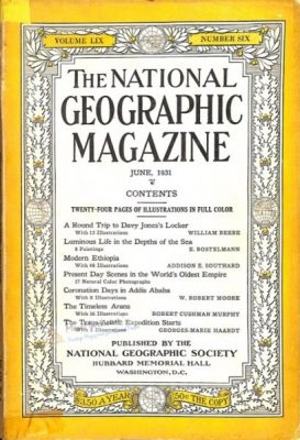 Cover of 'National Geographic', June 1931.