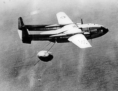 Recovery of film canister by a C-119