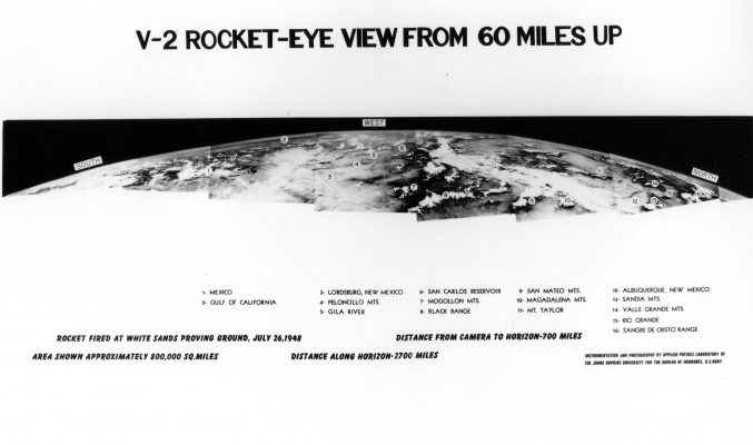 V-2 Rocket-Eye View