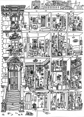 Saul Steinberg, 'The Art of Living' (1949)
