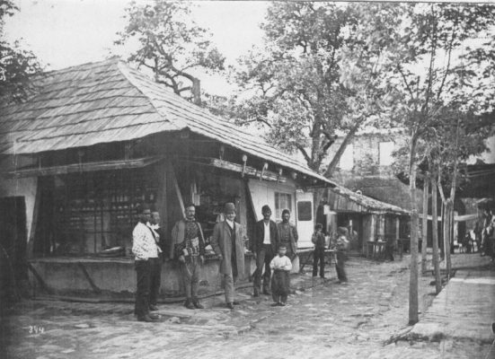 The bazaar of Ada Kaleh, c. 1890