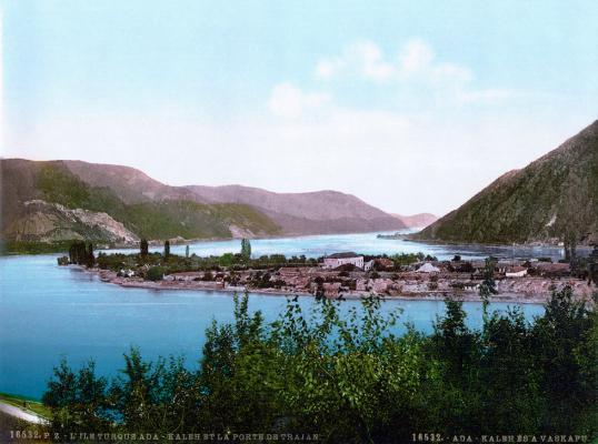 View of Ada Kaleh, c. 1900.