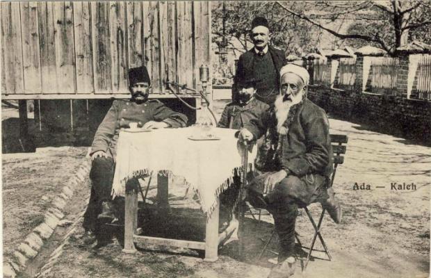 Street scene in Ada Kaleh, c. 1900.