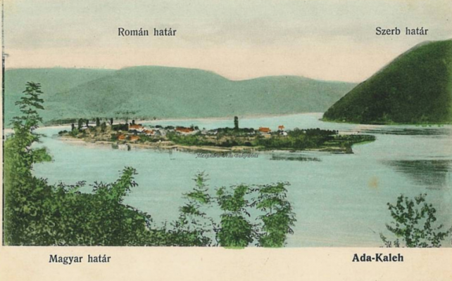 Postcard view of Ada Kaleh.