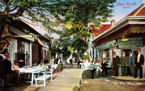 The bazaar of Ada Kaleh.